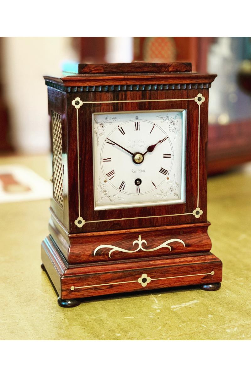 Small Georgian mantel clock by Price of London
