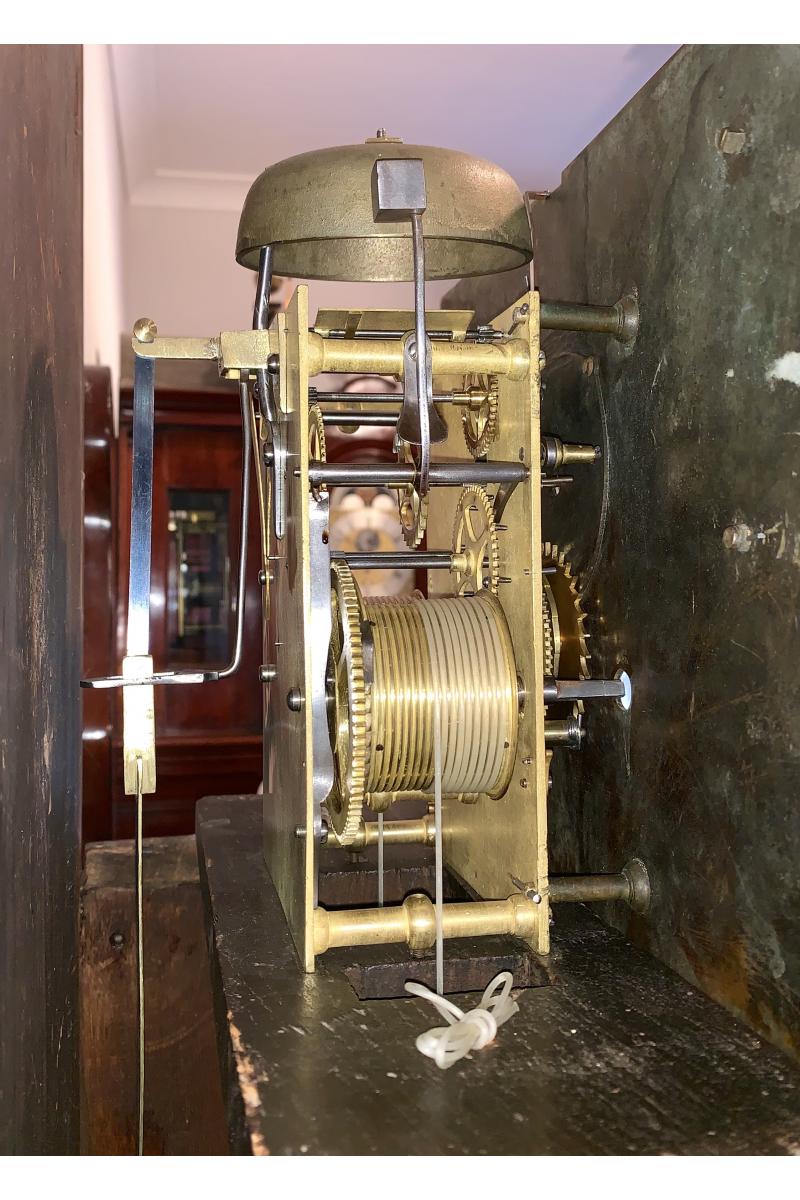 Oak longcase clock by Lynch of Newbury