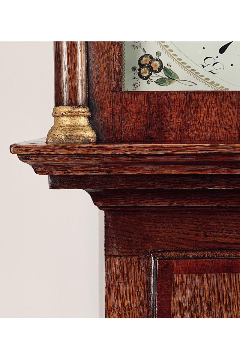 Small oak longcase clock by Hancock of Yeovil