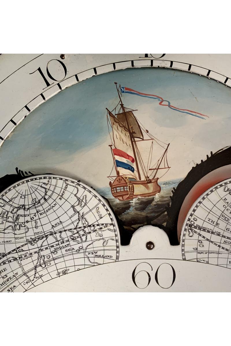 Small Moonphase longcase clock by Wright of Kennoway