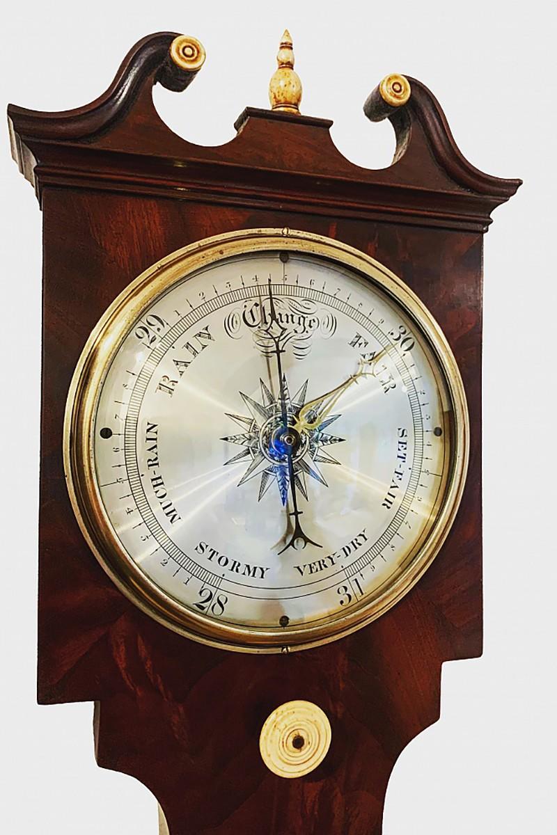 Rare mahogany barometer by...