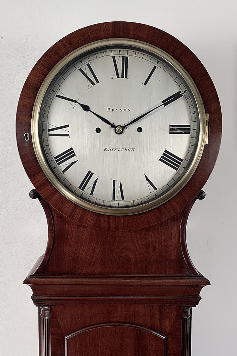 Mahogany longcase clock by...