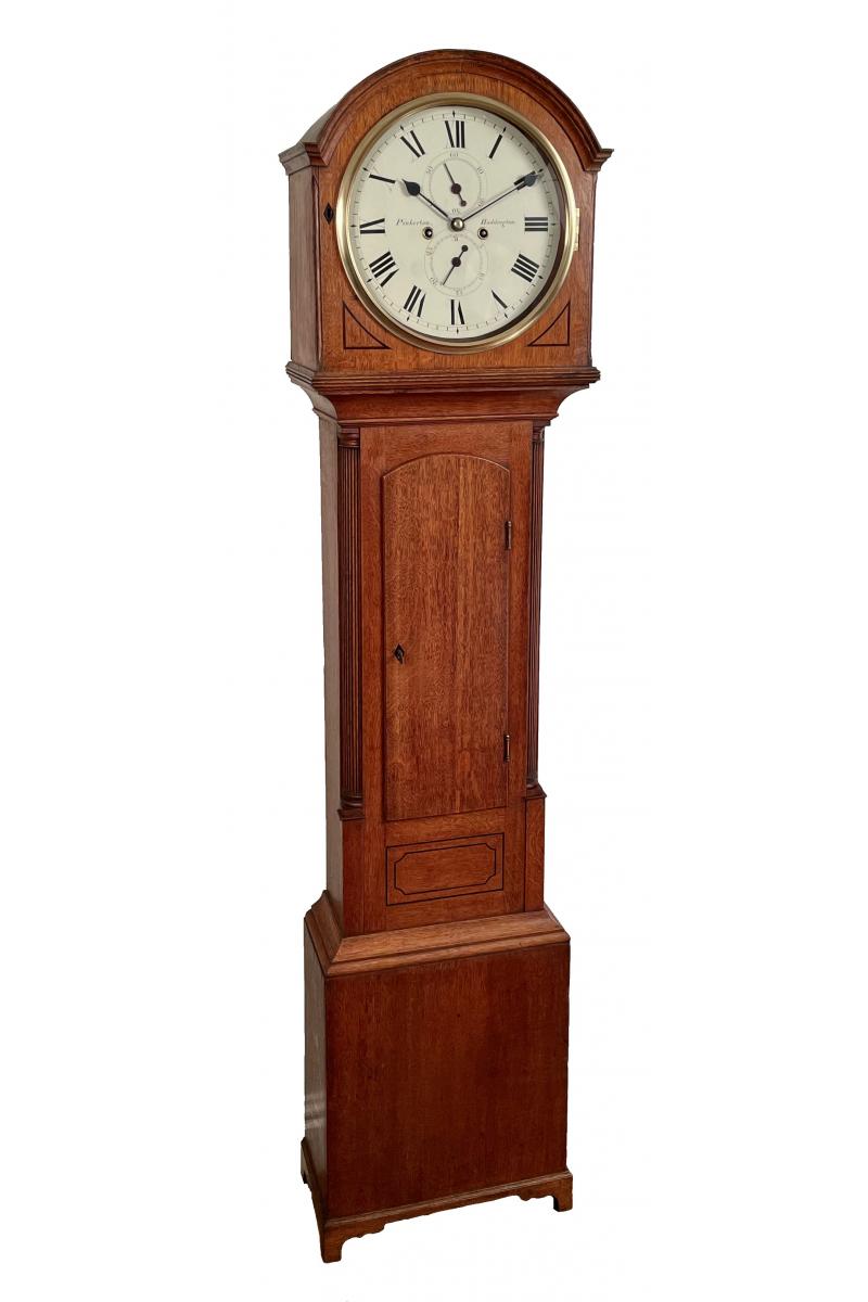 Oak longcase clock by...