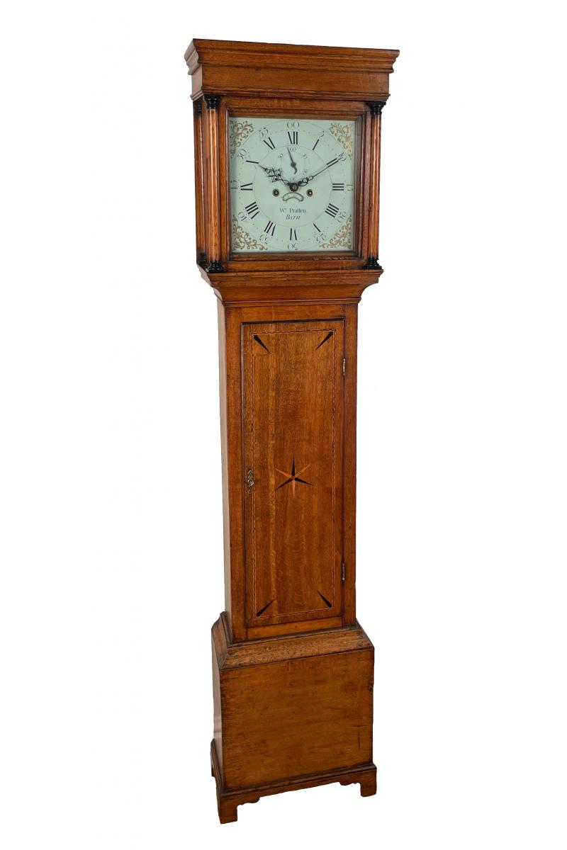 Small oak longcase clock by...